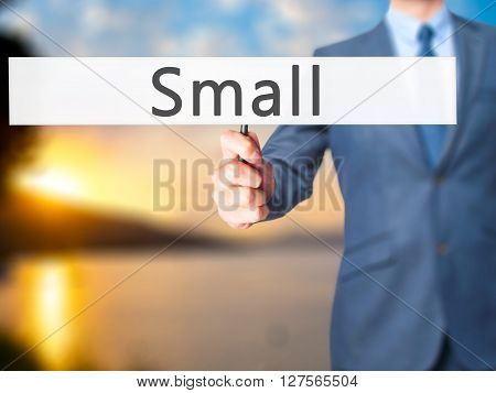Small - Businessman Hand Holding Sign