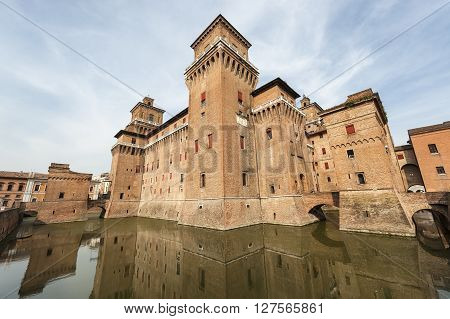 The medieval castle of Ferrara (Emilia-Romagna Italy)