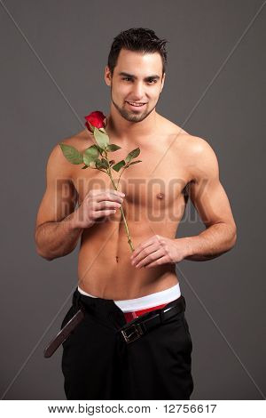 Man With Rose