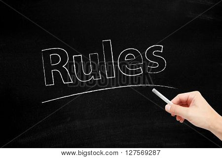 Rules written with chalk