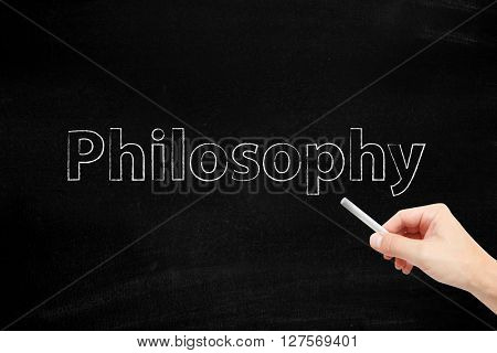 Philosophy written with chalk