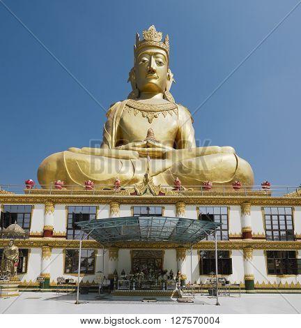 Rakhine Buddha statue at the Mahar Kyain Thit Sar Shin Pagoda, North Okkalarpa, Yangon, Myanmar