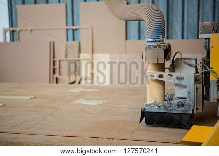 Image of carpenters machine on the table