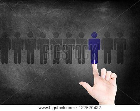 Choosing a person as a concept
