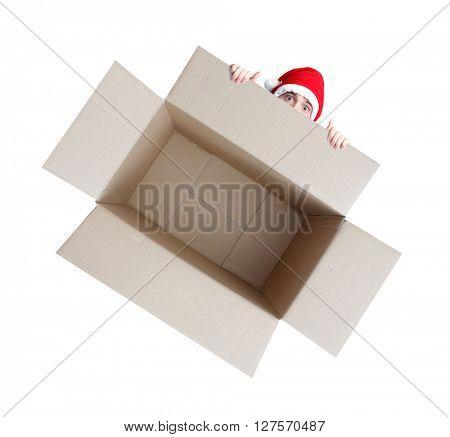 Xmas box on white