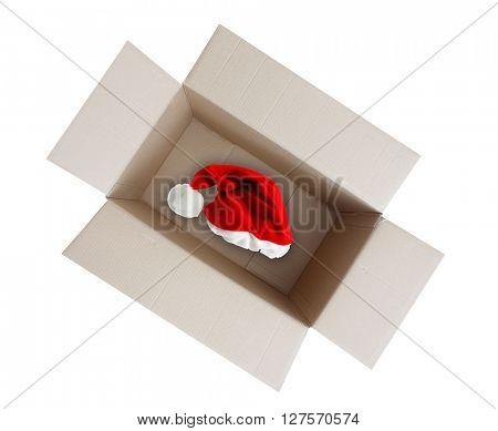 Santa's hat in a box