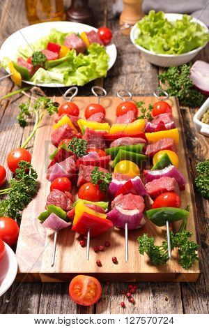 raw beef for barbecue