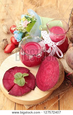 Beetroot juice and fresh beetroot is delicious
