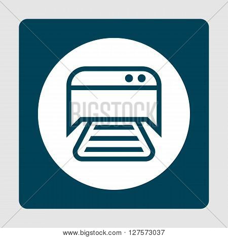 Printer Icon In Vector Format. Premium Quality Printer Symbol. Web Graphic Printer Sign On Blue Back
