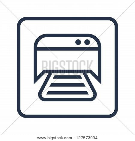 Printer Icon In Vector Format. Premium Quality Printer Symbol. Web Graphic Printer Sign On Blue Roun