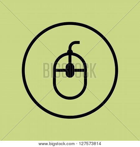 Mouse Icon In Vector Format. Premium Quality Mouse Symbol. Web Graphic Mouse Sign On Green Circle Ba