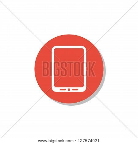 Tablet Icon In Vector Format. Premium Quality Tablet Symbol. Web Graphic Tablet Sign On Red Circle B