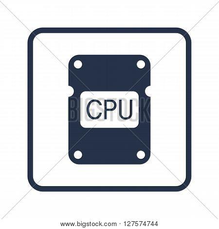 Cpu Icon In Vector Format. Premium Quality Cpu Symbol. Web Graphic Cpu Sign On Blue Round Background