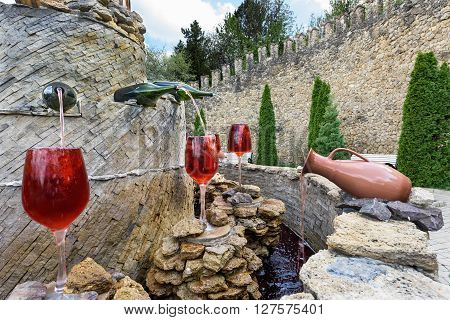 MILESTII MICI, MOLDOVA - APRIL 23 2016: Milestii Mici winery in Milestii Mici on 23rd of April in Milestii Mici, Republic of Moldova