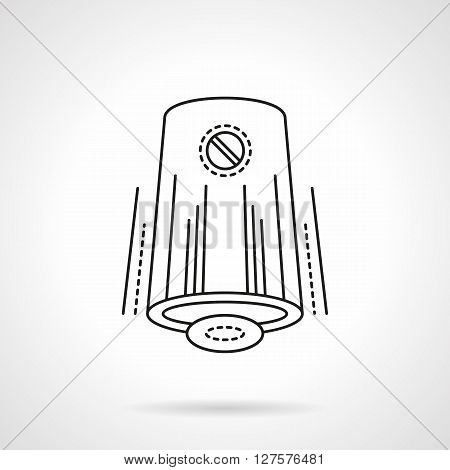 Devices and accessories for home climate. Modern automatic air freshener. Flat line style vector icon. Single design element for website, business.