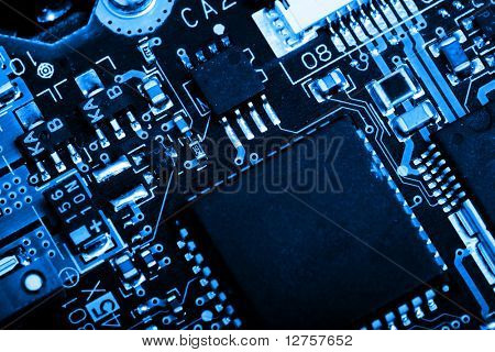 Close up view of the abstract microcircuit.