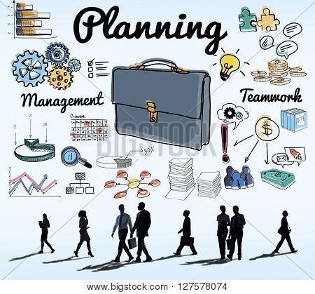 Planning Briefcase Management Business Concept