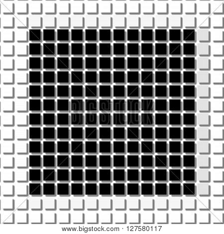 Square. The Simple Geometric Pattern Of Black Squares With Shadowed Frame. Set Of Dot Patterns. Half