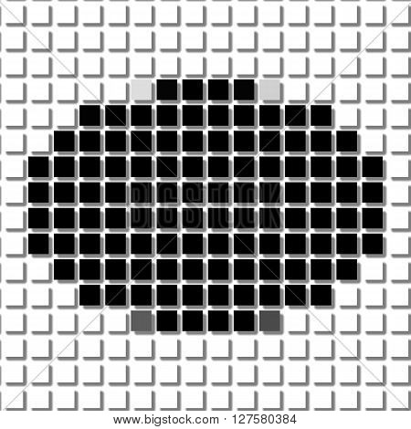 Ellipse. The simple geometric pattern of black squares with shadowed frame. Set of dot patterns. Halftone pattern for the posters banners leaflets flayers presentations