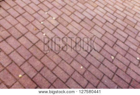 photographed close-up paving slabs for pedestrian road, defocused