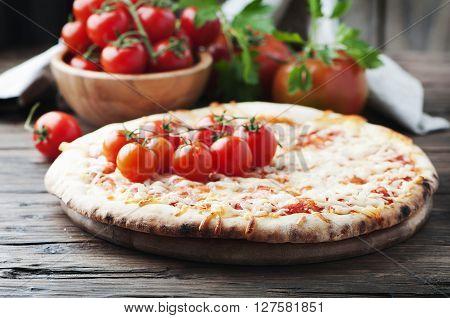 Italian Homemade Pizza Margherita With Tomato