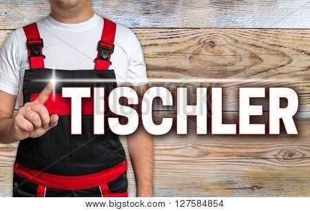 tischler (in german carpenter) touchscreen is shown by the craftsman.