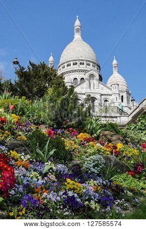 Sacred Heart Sacre Coeur Church in Montmartre, Paris, France