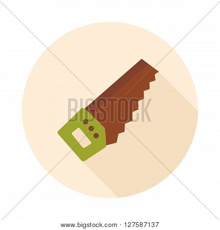 Hand saw flat vector icon outline isolated garden eps 10