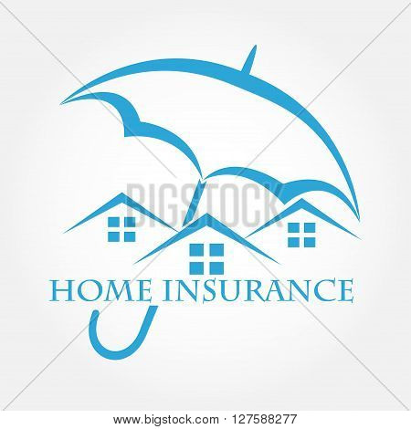 House with umbrella vector icon. Home insurance .