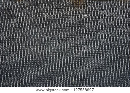 frayed fiber fabric in black rubber synthetic