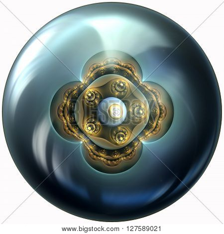Glossy Button With Fractal