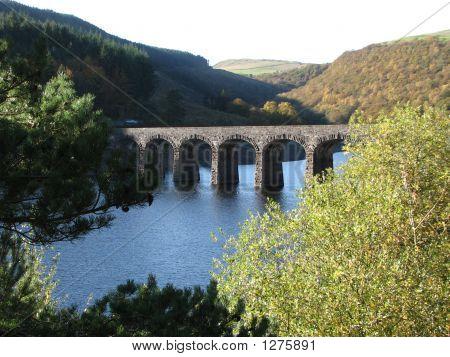 Roman Style Bridge Over Welsh Resevoir