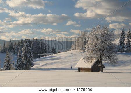 Casa Alpina cubierto de nieve