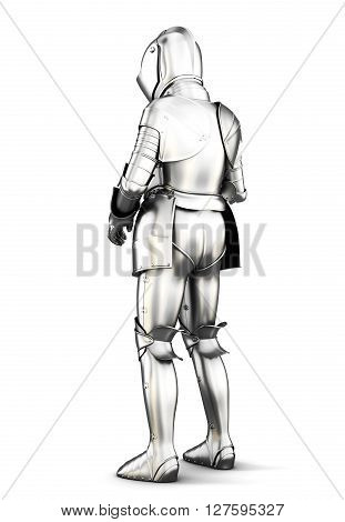 Medieval armor isolated on white background. 3d rendering.