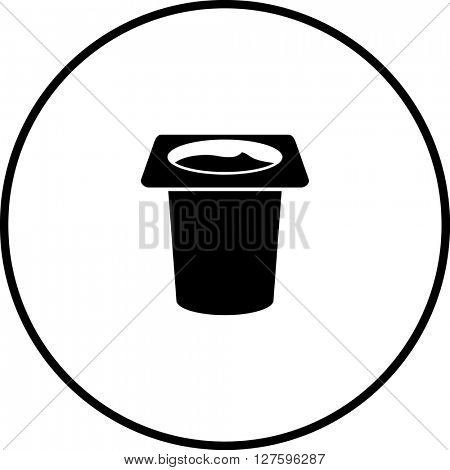 pudding in disposable cup symbol