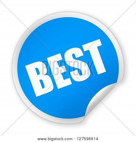 Best Round Sticker