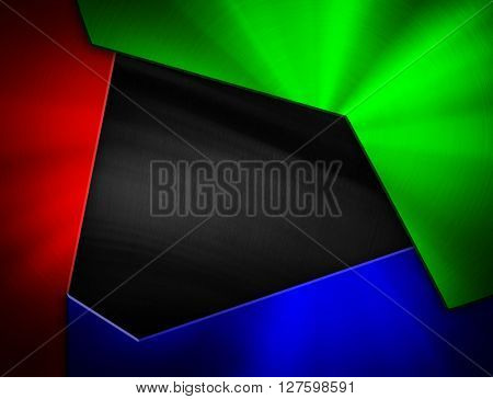 colorful metal design background
