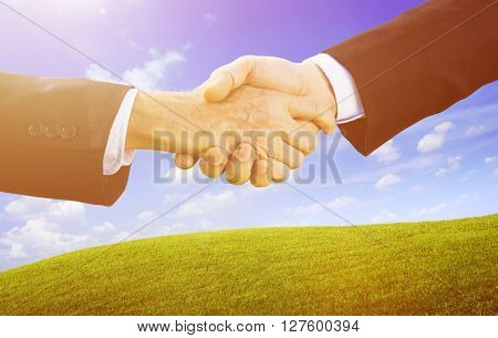 Handshake Greeting Connection Corporate Unity Concept