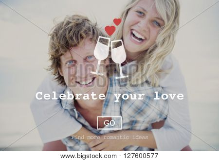 Celebrate your love Couple Dating Concept