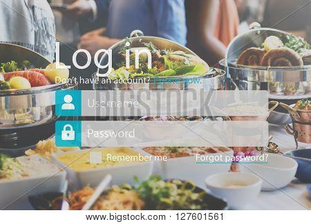 Log-in Apply Enter Join Membership Register Concept