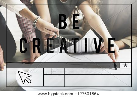 Be Creative Design Innovation Inspiration Concept