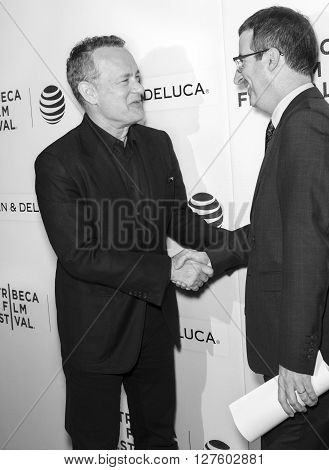 2016 Tribeca - Tribeca Talks Storytellers - Tom Hanks With John Oliver