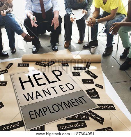 Help Wanted Employment Job Hiring Concept