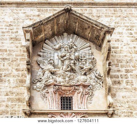 Detail Of Church Of Santos Juanes. Valencia, Spain