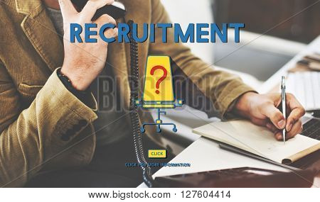 Recruitment Human Resources Hiring Concept