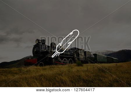 Steam Train Countryside Locomotive Countryside Concept