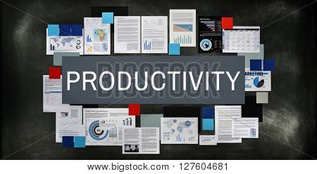 Productivity Results Work Flow Production Concept