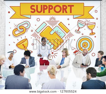 Support Helping Advice Collaboration Concept