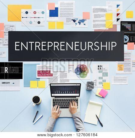 Entrepreneurship Organizer Risk Enterprise Dealer Concept