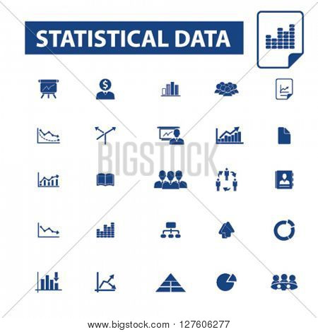 statistical data icons